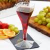 Disposable wine glass transparent