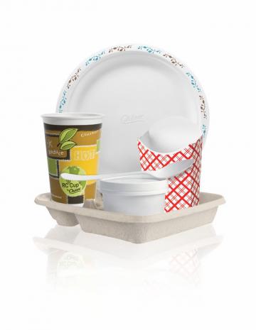 Disposable paper tableware