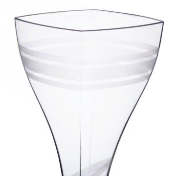Disposable wine glass square